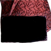 Red paisley scarf with chocolate stripe