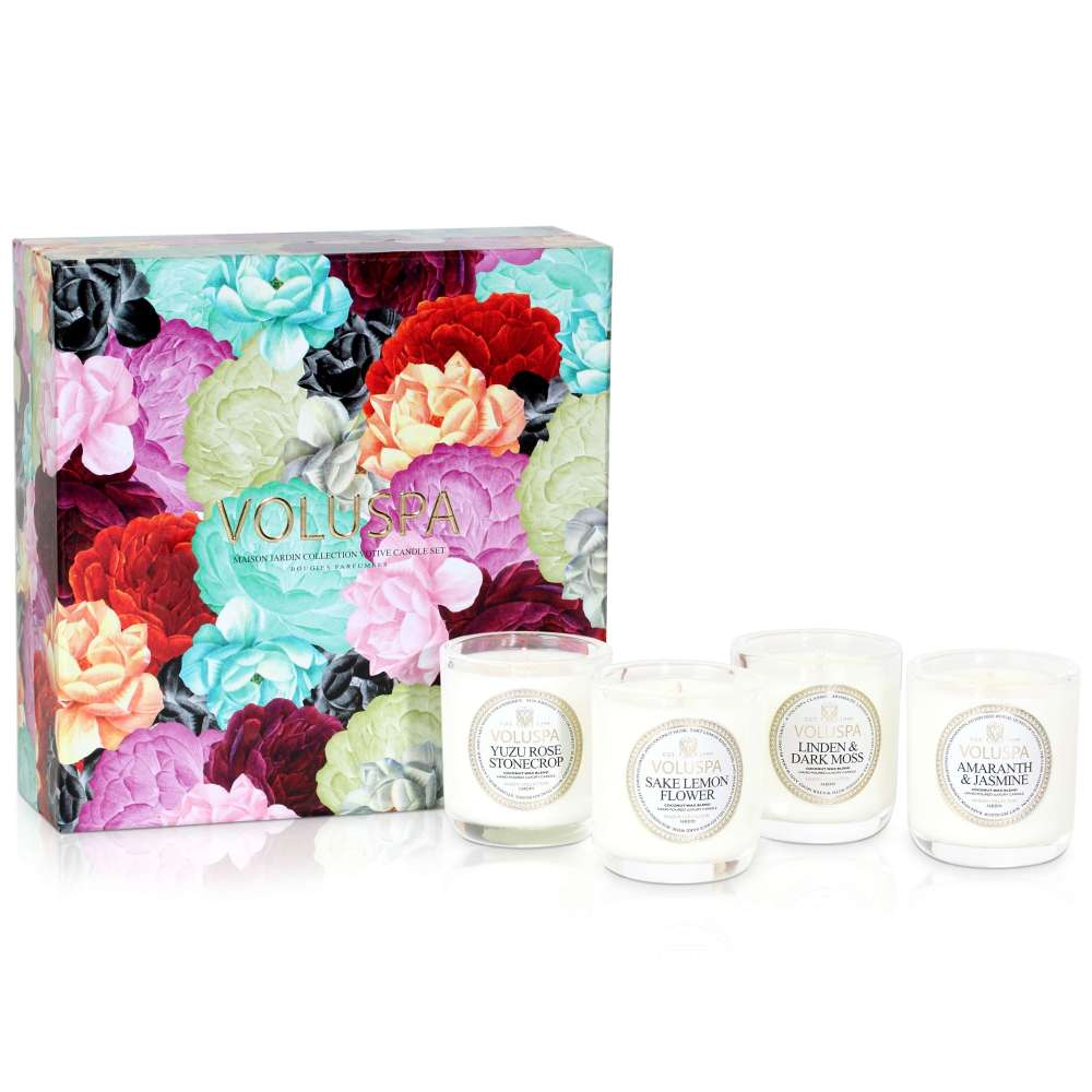 Voluspa maison jardin 4 votive gift set for Maison jardin