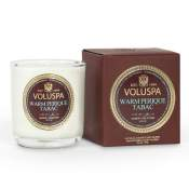 Voluspa Warm Perique Tabac Boxed Votive in Glass