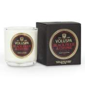 Voluspa Black Figue & Chypre Boxed Votive in Glass