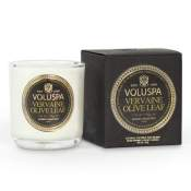 Voluspa Vervaine Olive Leaf Boxed Votive in Glass
