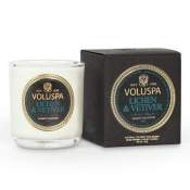 Voluspa Lichen & Vetiver Boxed Votive in Glass
