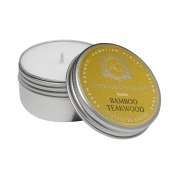 AQUIESSE Bamboo Teakwood Soy 20 Hr Travel Tin Candle
