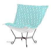Chicago Textile Puff Chair-Bahama Breeze-Patio