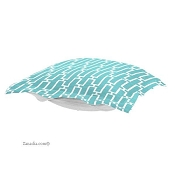 CTC Puff Ottoman replacement cover with cushion-Bahama Breeze-Patio