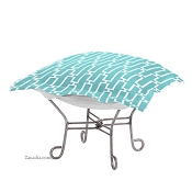 Chicago Textile Puff Ottoman-Bahama Breeze-Patio