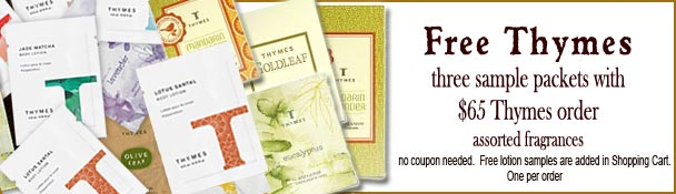 Three Free Thymes sample packets