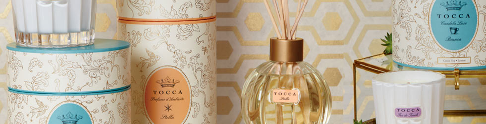 Tocca candles and diffusers