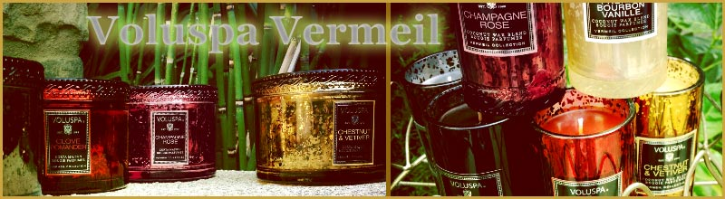 Voluspa Vermeil Glass Candles