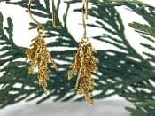 Catherine Weitzman Vermeil Fernlet Bushel Earrings