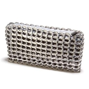 Chica Rosa Clutch-Silver by Escama Studio