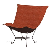 Linenfold Puff Chair Replacement Cover No Cushion Coco Coral