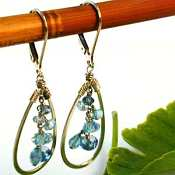 Capri Mix cluster-tear drop Earrings