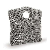 Leda Cutout Clutch Silver Handbag by Escama Studio