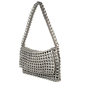 Clutch Francisca Silver Handbag by Escama Studio