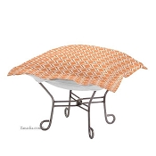 Chicago Textile Puff Ottoman-Geo Tangerine-Patio