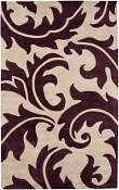Jaipur Rugs Aloha in Dark Ivory-Tulip Purple