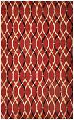 Jaipur Rugs Wavelength in Deep Claret