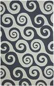 Jaipur Rugs Wave Hello in Dark Blue