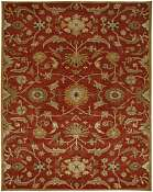Jaipur Rugs Cannes in Coral-Dark Amber Gold
