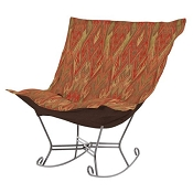 Chicago Textile Puff Rocker-Ikat Earth