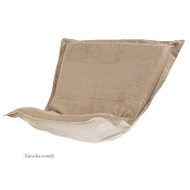 CTC puff chair replacement cover with cushion-Microsuede Sandstone