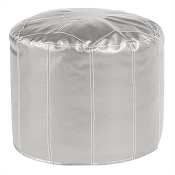 Pouf Ottoman in Shimmer Mercury-Tall-