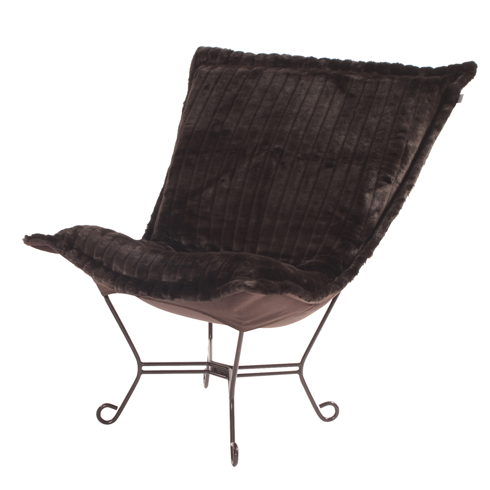 howard elliott puff chair mink brown