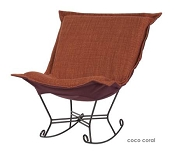 Chicago Textile puff rocker-Coco Coral
