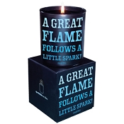 <i>A great flame</i> Quotable Candle- Wild Currant scent