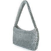 Socorro Silver Shoulder Handbag by Escama Studio