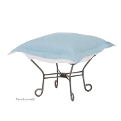 Chicago Textile Puff Ottoman-Starboard Breeze-Patio