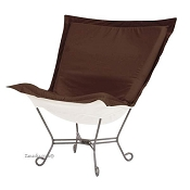 Chicago Textile Puff Chair-Starboard Chocolate-Patio