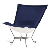 Chicago Textile Puff Chair-Starboard Ocean-Patio