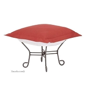 Chicago Textile Puff Ottoman-Starboard Punch-Patio