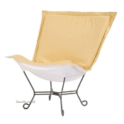 Chicago Textile Puff Chair-Starboard Sunflower-Patio