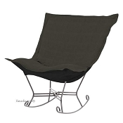 Howard Elliott Puff Rocker-Sterling Charcoal