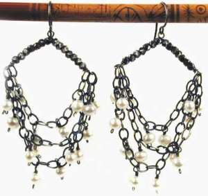 pearls on swag earrings by susan goodwin