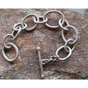 Hammered Chunky Link Bracelet by Evelyn Knight