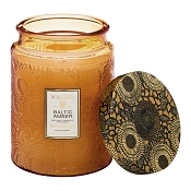 Voluspa Baltic Amber Large Glass Jar Candle