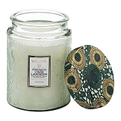 Voluspa French Cade & Lavender Large Glass Jar Candle