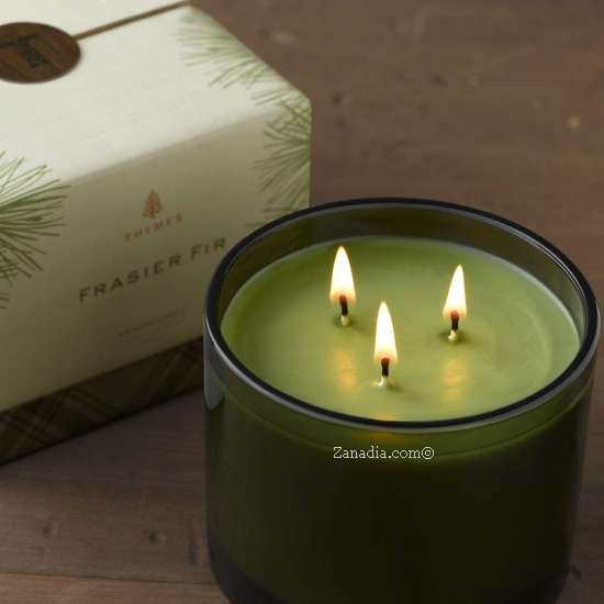 Thymes Frasier Fir Three Wick Candle