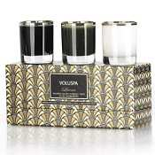 Voluspa 3 Votive Art Deco Gift Set-Leora (Truffle White Cocoa)