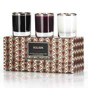 Voluspa 3 Votive Art Deco Gift Set-Delphine (Japanese Plum Bloom)