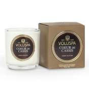 Voluspa Coeur Cassis Boxed Votive in Glass