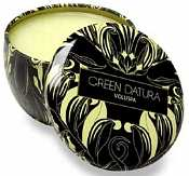 Voluspa Victoria 4.5-ounce tin candle-Green Datura