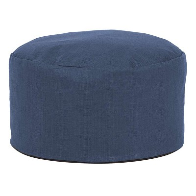 Foot Pouf Sterling Indigo -Howard Elliott