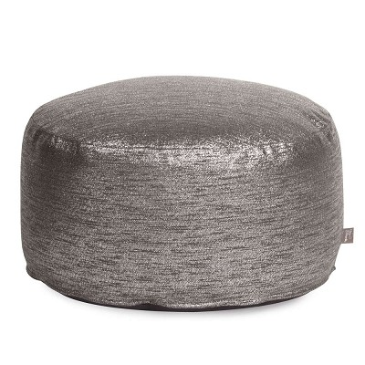 Foot Pouf Glam Zinc -Howard Elliott