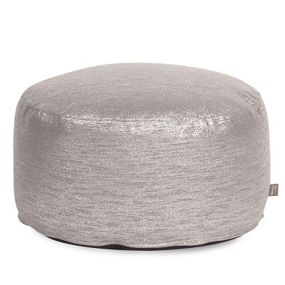 Foot Pouf Glam Pewter -Howard Elliott