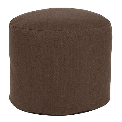 Tall Pouf Sterling Chocolate -Howard Elliott